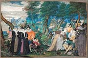 A Party in the Open Air-Allegory on Conjugal Love