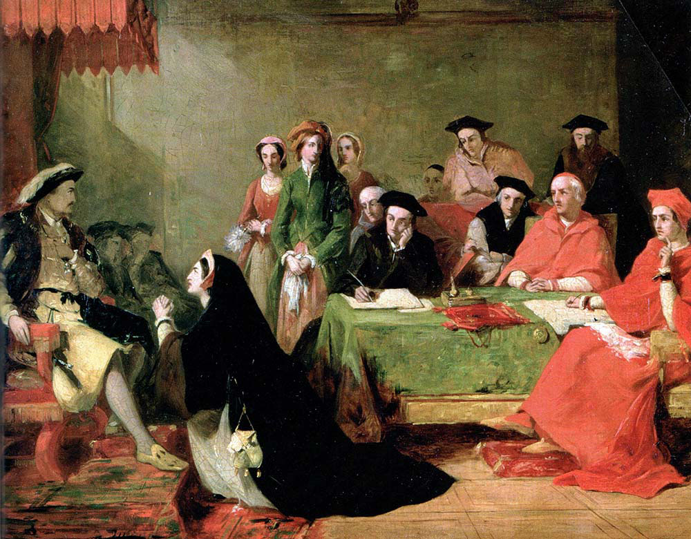 Catherine of Aragon Pleads with Henry the Eight