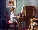 The Artist's Daughter Playing The Piano
