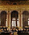 The Signing of the Peace in the Hall of Mirrors in Versailles