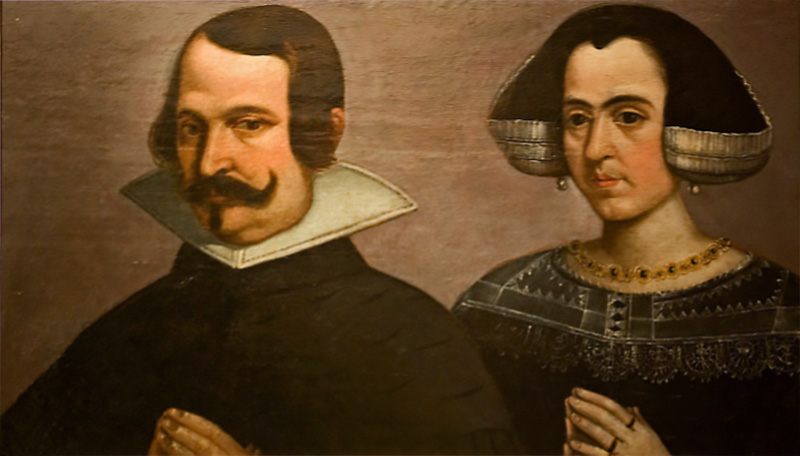 portrait of a wife and man