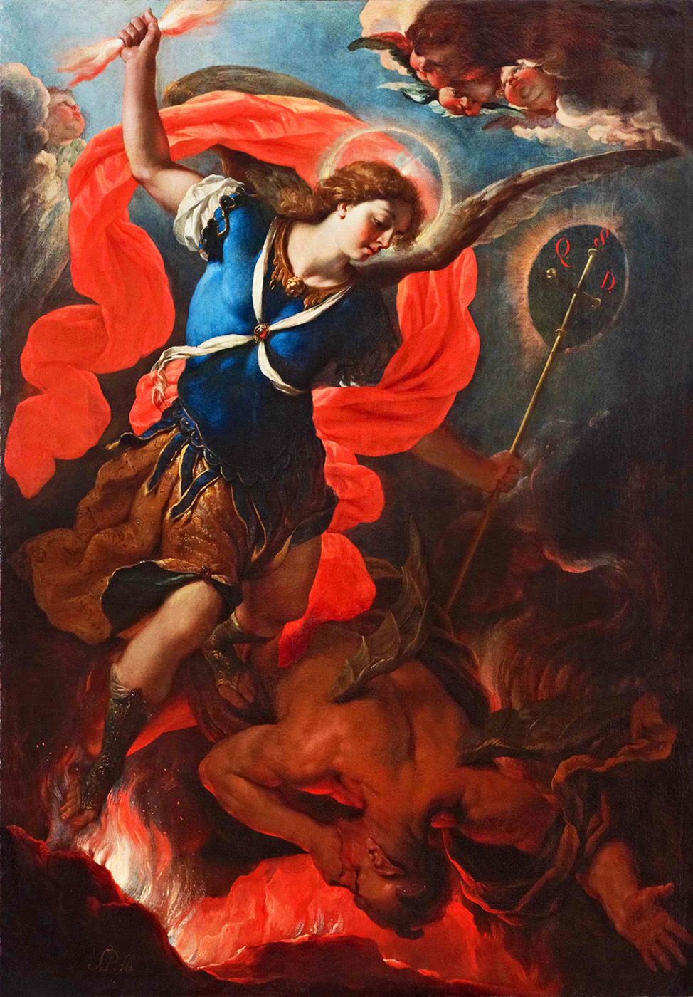 saint michael vanquishing the devil