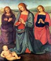 madonna with saints adoring the child