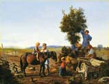 peasant family at the plow