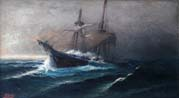 sailing vessel in a storm