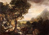Mountainous Landscape with Travellers at a Bridge