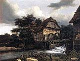 Two watermills and open sluice