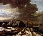 Winter Landscape with View Over the Amstel Amsterdam