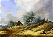 Dune Landscape with Farmers