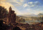 an extensive rhenish river landscape
