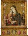 madonna and child with the dead christ saint agnes and cathrine of alexandria and two angels