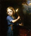 Boy Holding a Torch
