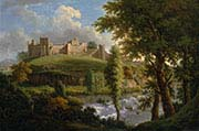 Ludlow Castle with Dinham Weir-from the South-West