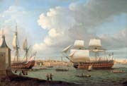 foudroyant and pégase entering portsmouth harbour