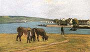 Cows on the Banks of the Seine
