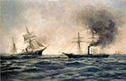Sinking of the Confederate Ship CSS Alabama