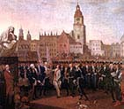 Kosciuszko taking the Oath at the Cracow Market Square