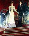 King Alfonso trhe thirteenth of Spain and his Mother Queen Maria Christina