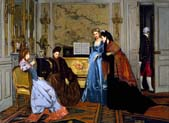 elegant figures in a salon