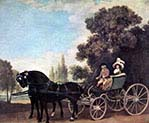 Lady and Lord in a Phaeton