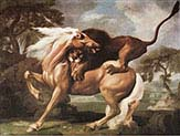Horse attacked by Lion