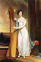 Eliza Ridgely with a Harp