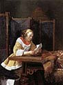 Lady Reading a Letter