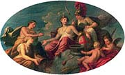 Allegorical Group Representing London-Justice-Prudence-Temperance and Fortitude