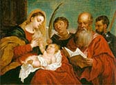 The Virgin and Child with Saints-Stephen-Jerome and Maurice