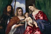 madonna and child with saints dorothy and george