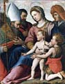 madonna with child saint giovannino holy bishop and saint bartholomew