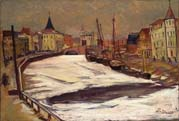winter with tartu river ema