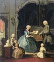 Family Group at a Harpsichord