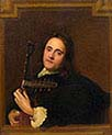 Man Playing Theorbo-Lute