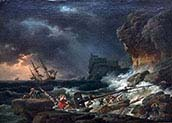 Storm of sea with Shipwrecks