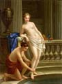 two women bathing