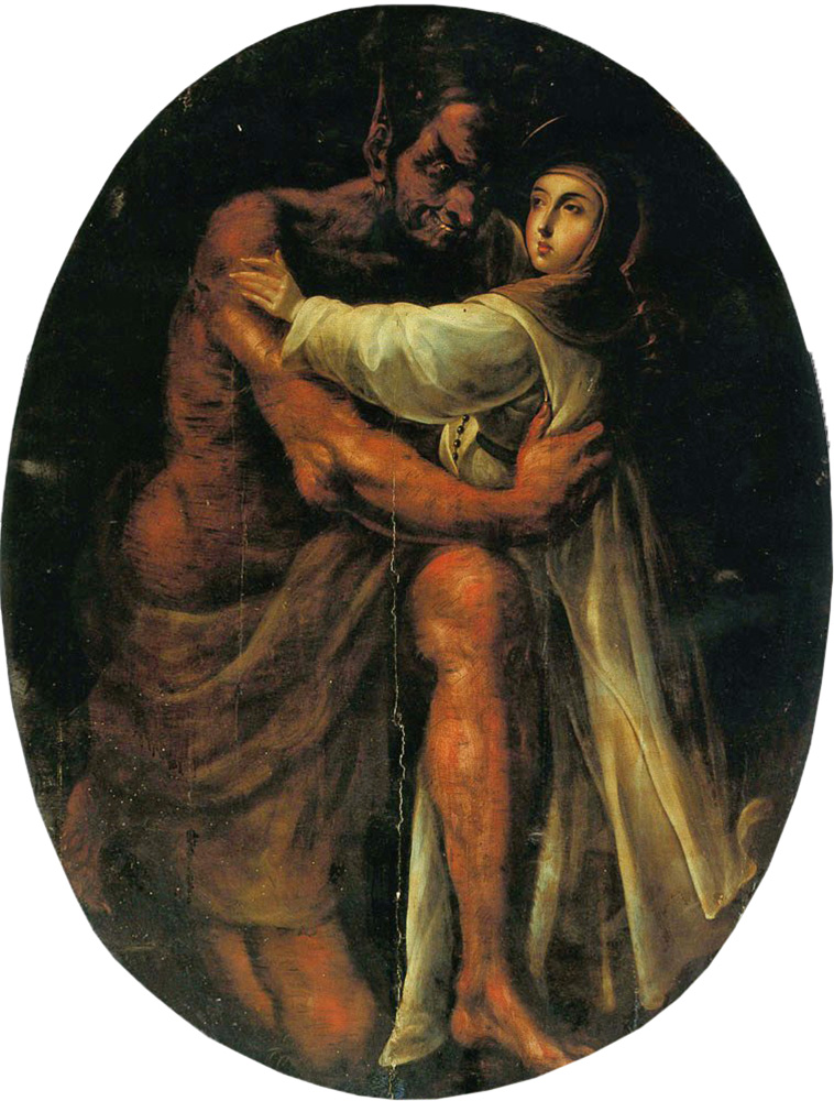 saint rose tempted by the devil