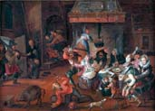 tavern scene with soldiers of the spanish thirds