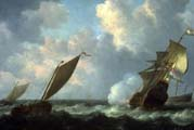 marine view with dutch ships