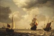 states yacht and other ships on rippling water