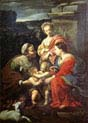 the holy family with saints elizabeth john the baptist and catherine