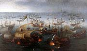 Day The Arrival at Vlissingen of the Elector Palatinate Frederick The FifthSeven of the Battle with the Armada