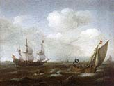 Dutch Ship and Fishing Boat in a Fresh Breeze
