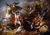 Alexander III of Scotland Rescued from the Fury of a Stag