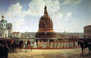 opening of the monument millennium of russia in novgorod in 1862