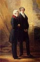 Arthur Wellesley First Duke of Wellington with Sir Robert Peel
