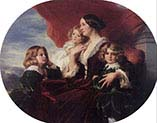 Elzbieta Branicka-Countess Krasinka and her Children