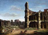 a view of the colosseum by Caspar van Wittel