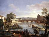 castel sant angelo from the south by Caspar van Wittel