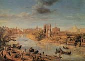 view of rome with the tiber and castel sant angelo